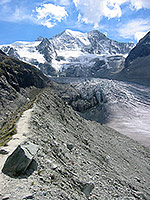 Beginning the ascent to Cabane de Moiry