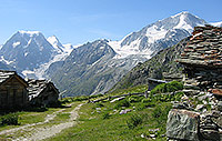 In Pra Gra, with views of Mont Collon and Pigne d'Arolla