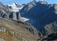 The Fieschergletscher, as seen from Tälligrat
